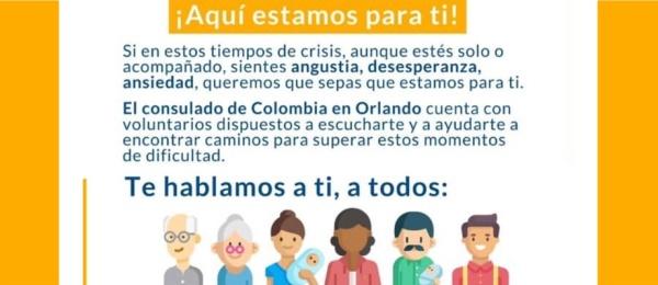Consulado de Colombia en Orlando acompaña a los connacionales en medio de la pandemia del COVID