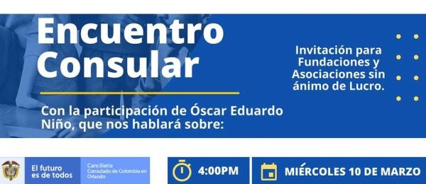 El Consulado de Colombia en Orlando realizará el Encuentro Consular Comunitario el 10 de marzo