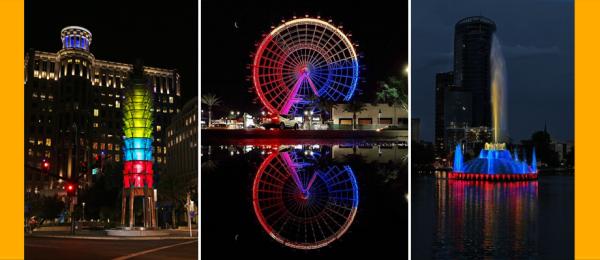 La bandera de Colombia iluminará los sitios más emblemáticos de Orlando durante la celebración del 20 de Julio