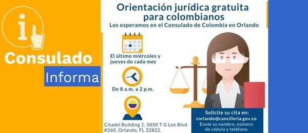 Consulado ofrece orientación jurídica gratuita para colombianos en Orlando