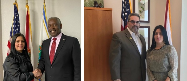 Cónsul de Colombia en Orlando sostuvo encuentros con autoridades locales