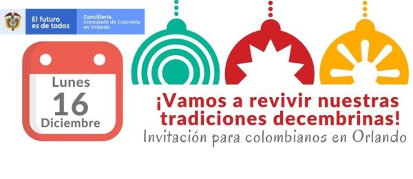Promoción de la unidad en la comunidad y solidaridad a través de las tradiciones invita el Consulado de Colombia